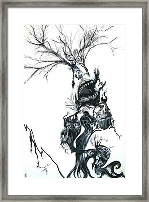 The Animal Tree Framed Print