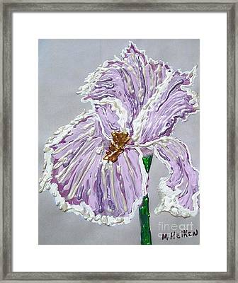 The Anne- Elizebeth Iris Framed Print