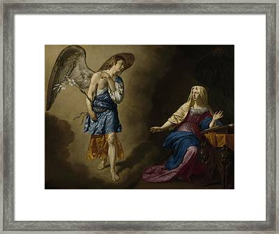 The Annunciation Framed Print by Adriaen van de Velde