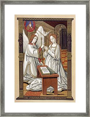 The Annunciation. After A Miniature Framed Print by Vintage Design Pics
