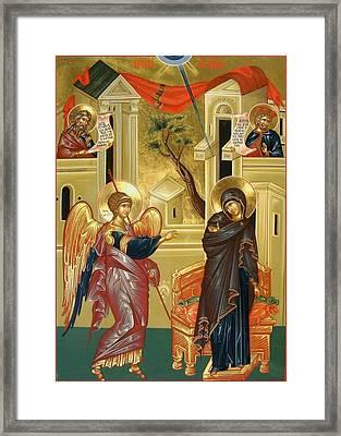 The Annunciation Framed Print by Daniel Neculae