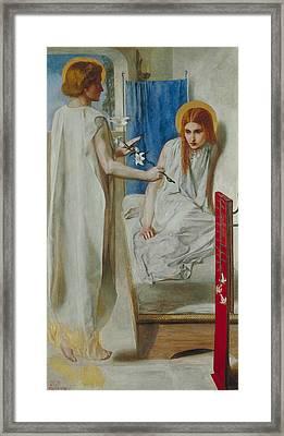 The Annunciation Framed Print by Dante Gabriel Rossetti