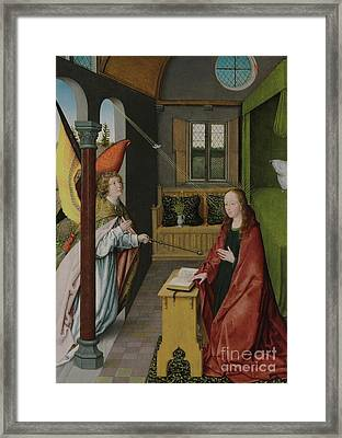 The Annunciation Framed Print by Jan Provost