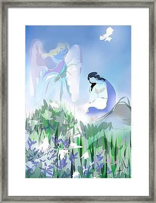 The Annunciation Framed Print by Jennifer Buerkle