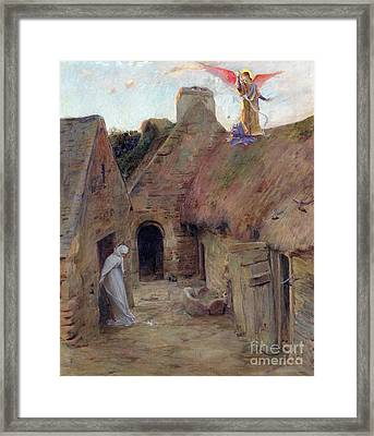 The Annunciation Framed Print by Luc Oliver Merson