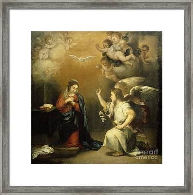 The Annunciation To Mary Framed Print by Celestial Images