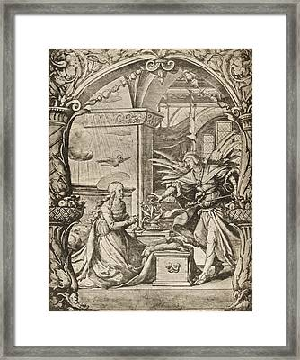 The Annunciation To The Madonna Reduced Framed Print