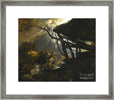 The Annunciation To The Shepherds Framed Print by Celestial Images