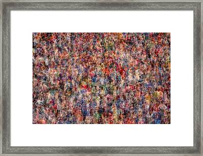 The Anonymous Croud Framed Print by Denis Bouchard
