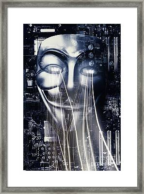 The Anonymous Eyes Of Civil Unrest Framed Print