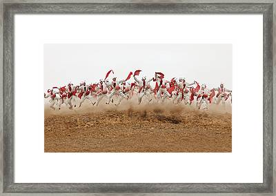 The Ansai Waist Drum Dance Framed Print