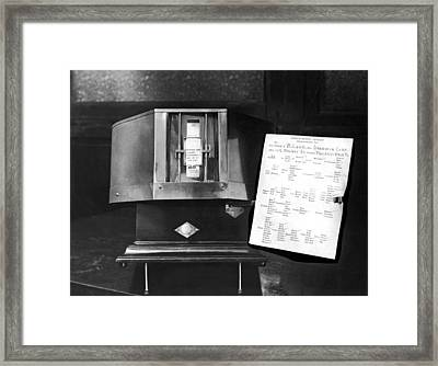 The Anthropomorphometer Framed Print by Underwood Archives