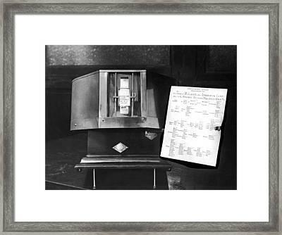 The Anthropomorphometer Framed Print