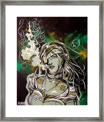 The Anti-heroine Framed Print by Ericka Bales