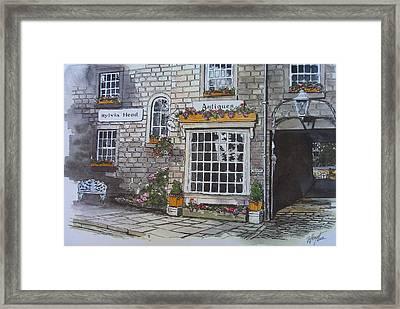 The Antique Shop Framed Print by Victoria Heryet