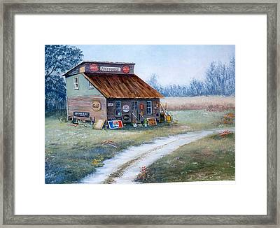 The Antique Store Framed Print by Sue Coley