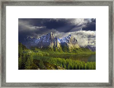 The Anvils Of Thor Framed Print by Dieter Carlton