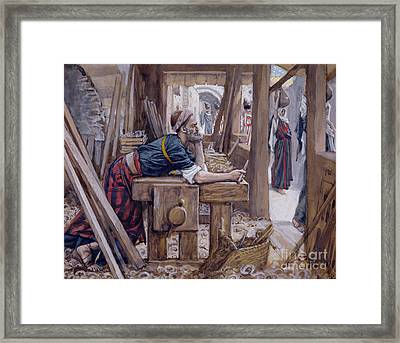 The Anxiety Of Saint Joseph Framed Print