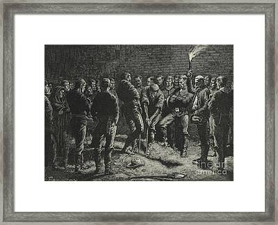 The Apache Campaign  Burial Of Hatfield's Men Framed Print