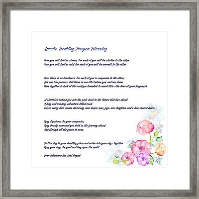 The Apache Wedding Blessing - Long Version Framed Print