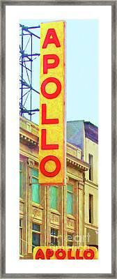 The Apollo Theater In Harlem Neighborhood Of Manhattan New York City 20180501 Framed Print