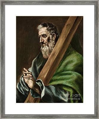 The Apostle Saint Andrew Framed Print