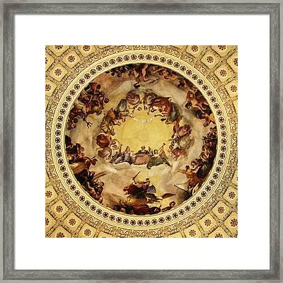 The Apotheosis Of Washington Framed Print
