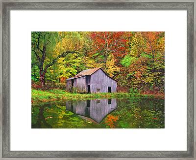 The Appalachian Reflection Framed Print