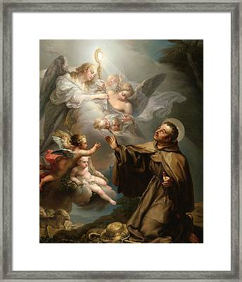 The Apparition Of The Eucharist To San Pascual Bailon Framed Print