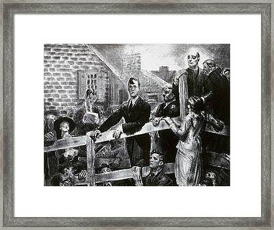 The Appeal To The People Framed Print
