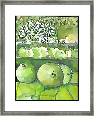Framed Print featuring the painting The Apple Closet by Mindy Newman