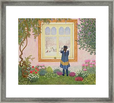The Apple Framed Print by Ditz