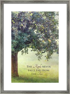 The Apple Framed Print by Lori Deiter