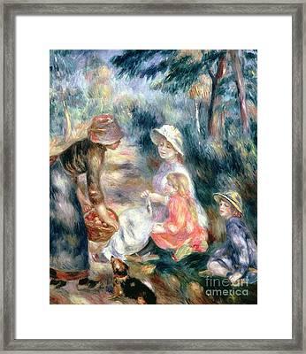 The Apple-seller Framed Print by Pierre Auguste Renoir