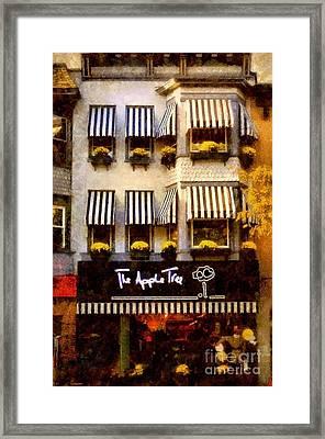 The Apple Tree - Main Street Stroudsburg Pa Framed Print