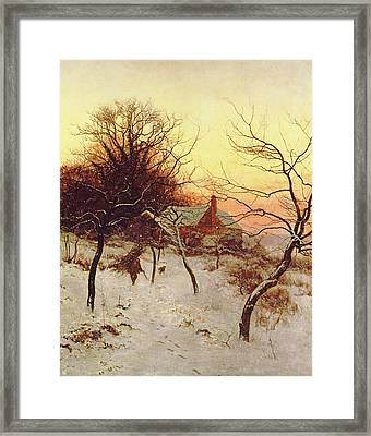 The Approach Of A Winter's Night Framed Print