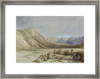 The Approach To Mount Sinai Framed Print