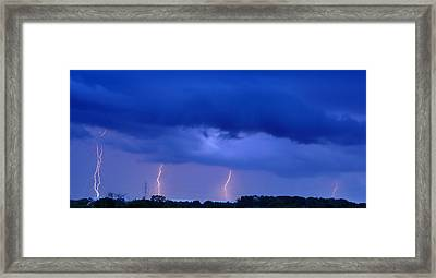 The Approching Storm Framed Print