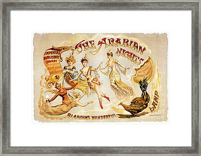 The Arabian Nights Burlesque Framed Print