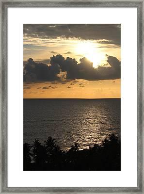 The Arabian Sea, Amritapuri Framed Print