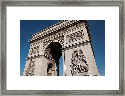 The Arc De Triomphe Framed Print by D Plinth