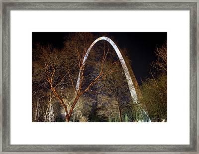 The Arch 3 St Louis Missouri Gateway Arch Art Framed Print