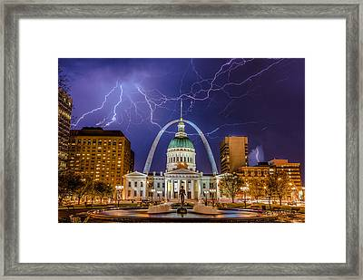 The Arch And The Bolts Framed Print