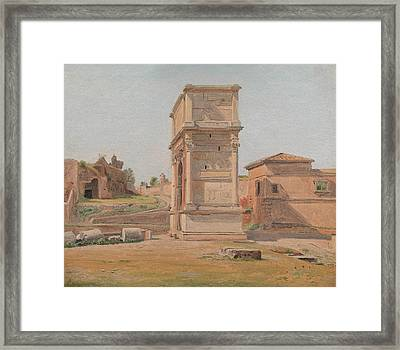 The Arch Of Titus In Rome, 1839 Framed Print by Carl Christian Constantin Hansen