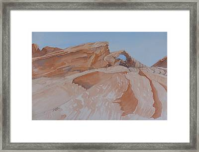 Framed Print featuring the painting The Arch Rock Experiment - Vi by Joel Deutsch