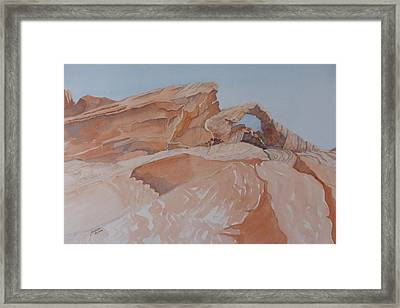 Framed Print featuring the painting The Arch Rock Experiment - Vii by Joel Deutsch