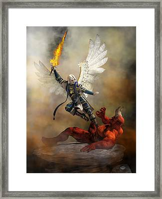 The Archangel Michael Framed Print