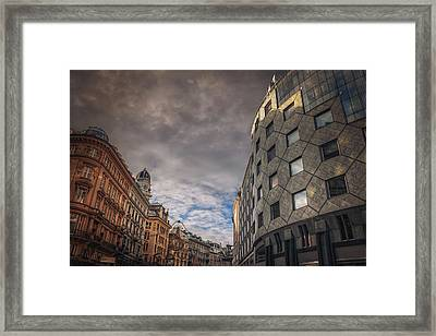 The Architecture Of Vienna  Framed Print by Carol Japp