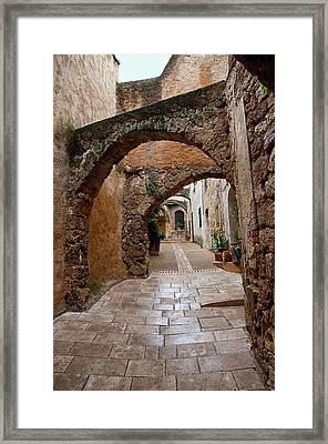 The Archways Of Villecroz Framed Print