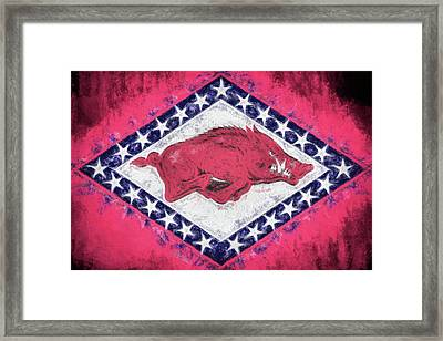 The Arkansas Razorbacks Framed Print by JC Findley